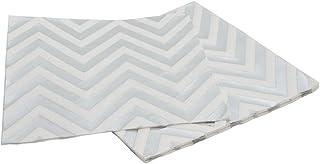 Papieren servetten servetten tafeldecoratie voor verjaardag bruiloft party grootte 17 cm x 17 cm zigzag zigzag patroon 10 ...