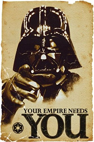 1art1, 52077, Poster, motivo: Star Wars - Empire Needs You, 91 x 61 cm