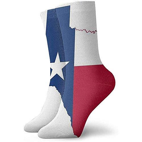 Texas Flag Map Men 'S nieuwigheid sokken, Womens Funny Cotton Crew sokken cute Novelty Dress sokken, het beste voor toerisme, party, sport, vakantie