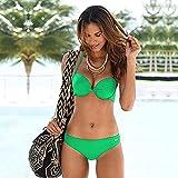 ShSnnwrl Bikini de Moda Bikini Two Piece Swimsuit Women High Waist Black Pink Bikinis Set Plus Size Swimwear Beachwear Bathing Suit L 11
