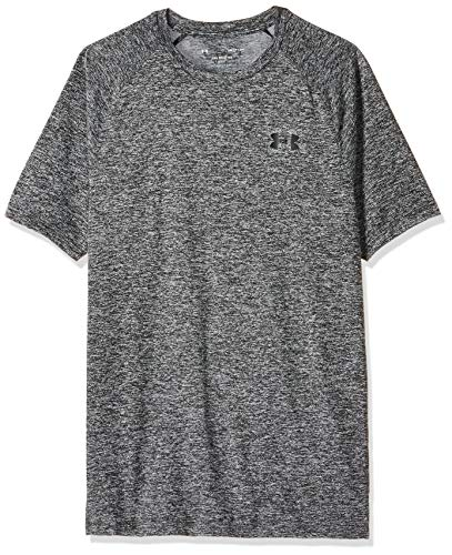 Under Armour Ua Tech Tee 2.0 Camiseta de manga corta, Hombre, Negro (Grey/Black 002), LG