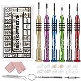 Magicfly - Kit di Riparazione Occhiali, Mini Cacciavite per Occhiali, 6 Cacciaviti Magneti...