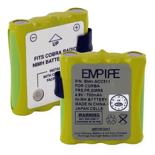 EMPIRE Maxon PMRS446 2-Way Radio Battery (Ni-MH 4.8V 600mAh) Rechargeable Battery - replacement for Cobra FA-BP Battery