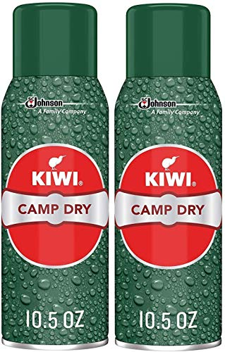 Kiwi Camp Dry Water Repellent,for Tents, Tarps, Boots, Boat Covers, Patio Furniture and More, Spray Bottle, 10.5 Oz (Single Unit) - Pack of 2
