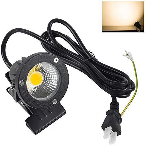 共同照明 LEDクリップライト 防水 スポットライト 電球色 (GT-TD-CD7WW) 3000k 630LM デスクライト 照明器具 作業ライト インテリア照明 ピッコロライト 電気スタンド コンセント キッチン 看板照明 撮影 水槽照明 小型