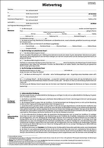 SIGEL MV464/25 Einheitsmietverträge mit Hausordnung, 4seitig, DIN A4, 25 Stück