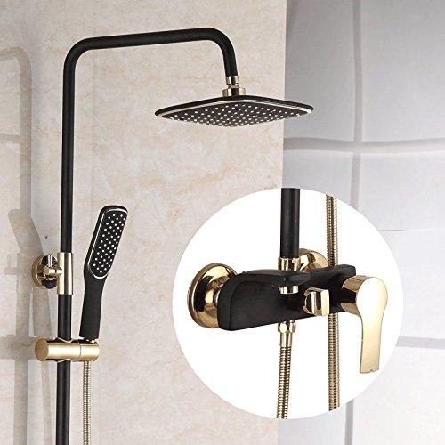 LVSEDE badkamer waterkraan design keukenkraan muur douchekop koper waterkraan huishouden warm en koud lippen badkamer set douche zwart