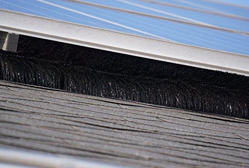 10 Meter Photovoltaik Bürste; Ø 12 cm - unkompliziert - aus deutscher (eigener) Produktion!