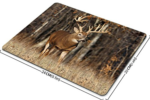 Smooffly Gaming Mouse Pad Custom,Deer Grass Forest Hunting Customized Rectangle Non-Slip Rubber Mousepad Gaming Mouse Pad Photo #4