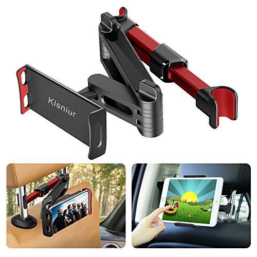 Car Headrest Mount, Tablet Headrest Holder, Car Backseat Seat Mount Holder Universal 360° Rotating Adjustable for All 6'-10.5' Tablet iPad iPad Air iPad Mini,Samsung Galaxy,Cell Phones 4.5'-8' (Red)