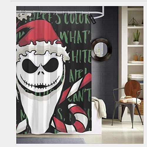 nonebrand Candy Totenkopf Duschvorhang-Set mit 12 Haken, wasserdichter Stoff Badewanne Dusche 182,9 x 182,9 cm