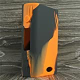 Silicone Case for Sigelei Fuchai 200w Box Mod Sleeve Cover Skin Wrap (Orange/Black)