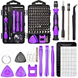 Precision Screwdriver Set Magnetic - Mini 124 in1 Professional Screw driver Tools Sets PC Repair Kit for Mobile Phone Tablet Computer Watch Camera Eyeglasses Electronic Devices DIY Hand Work (PURPLE)