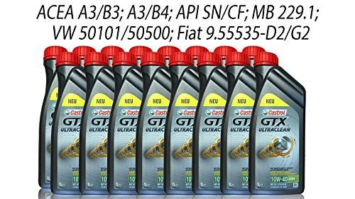 Castrol GTX Ultraclean 10W-40 A3/B4 Grey, 16 x 1 litro