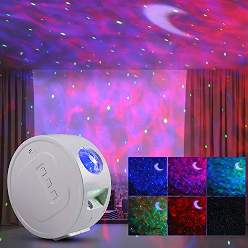 YISUN Sternenprojektor Nachtlicht, 3 in 1 Galaxy Projektor, Sky Lite Projektor mit Timer, Sprachsteuerung, kabelloser LED-Nebelwolke Sternennachtlicht für Geburtstagsgeschenke