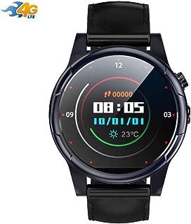 4Gスマートウォッチアンドロイド7.1サポートWIFI GPS RAM 3G ROM 32GブルートゥースHRタッチスクリーンスマートウォッチ付きスマートウォッチ、GPS、カメラとスマートフォンの通知iPhoneとAndroidとの互換性 (Color : Black)