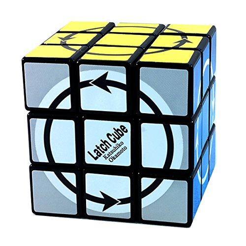 3x3x3 Latch Cube Black Puzzle Cube by Okamoto Twisty Toy NEW