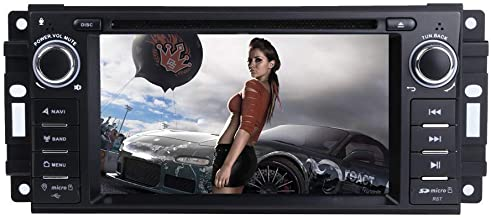 "MCWAUTO Car Stereo GPS DVD Player for Dodge Ram Challenger Jeep Wrangler JK Head Unit Single Din 6.2"" Touch Screen Indash Radio Receiver with Navigation Bluetooth/3G"