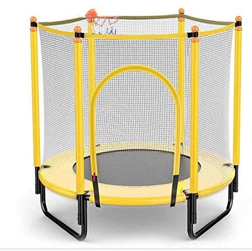 Trampolín Elástica de Jardín 60' mini trampolín for los niños - 5 pies al aire libre y trampolín cubierto con aro de baloncesto   regalos de cumpleaños for los niños, regalos for los niño y niña