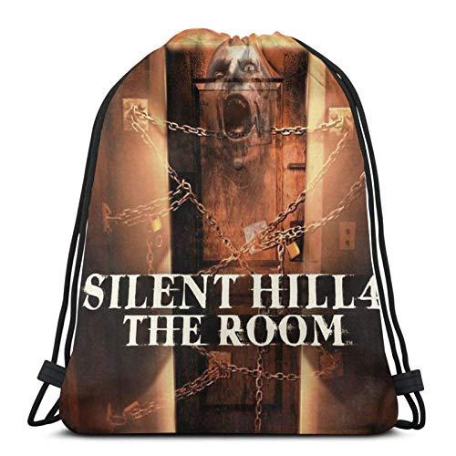 AOOEDM Silent Hill 4 The Room - Ps2 Box Art Cover - Brazz Sport Sackpack Mochila con cordón Bolsa de gimnasio Saco