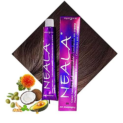 Tintura professionale colorazione per capelli SENZA AMMONIACA, PPD o MEA - 05 - CASTANO CHIARO - NEALA 100ml.
