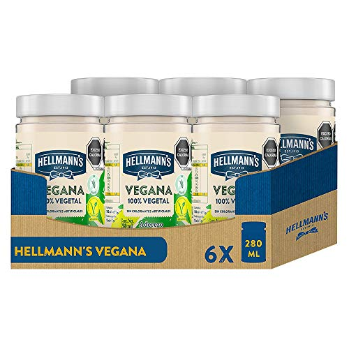 Hellmann's Vegana - 280 ml - Pack de 6: total de 1.68L