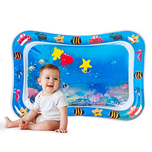 Tummy Time Baby, Eletorot Alfombra de Juego Inflable Sensorial Manta de Juegos Gimnasio Agua on Diversión Centro de Actividades para Bebé Divertidas (Azul)