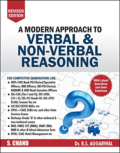 A Modern Approach to Verbal & Non-Verbal Reasoning by R.S. Aggarwal (2019-20 Session)