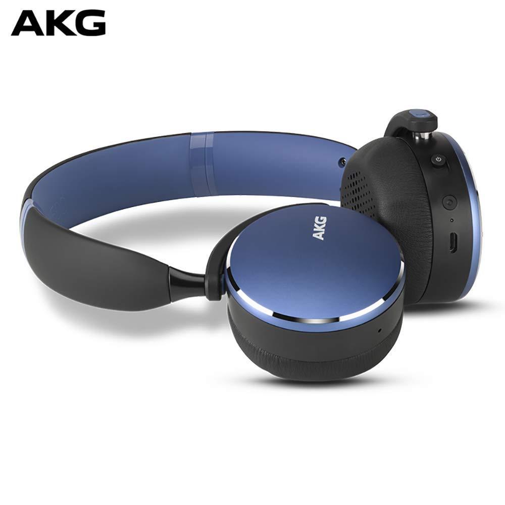 AKG Y500 WIRELESSワイヤレスBluetoothヘッドセットヘッドセットゲーミングヘッドセットユニバーサル環境認識はブルーと呼ぶことができます