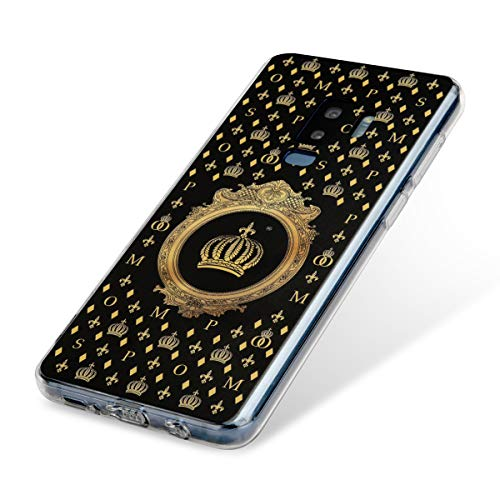 POMPÖÖS Back-Cover für Samsung Galaxy S9 Plus by Harald Glööckler, schwarz/Gold Krone