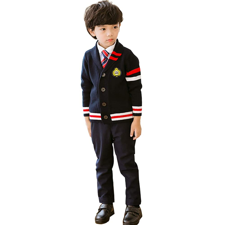 卒業式 スーツ 男の子 Emfay 子供 フォーマル スーツ セーター ニット 入学式 冠婚葬祭 5点セット