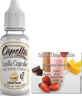 Capella Flavor Drops Concentrated & Quick Start Guide Bundle (Vanilla Cupcake V2, 13ml)