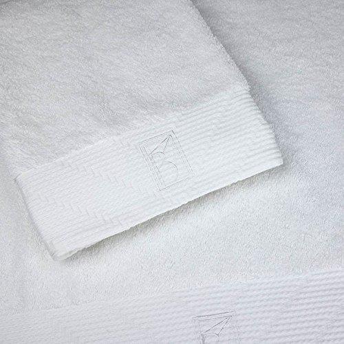 bailet b001db-bc01 tijdloos badhanddoek gekamd katoen wit 100 x 150 cm