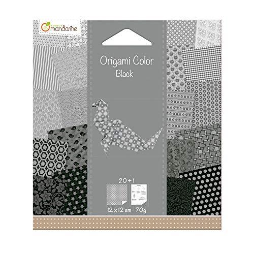 Avenue Mandarine - Papel Origami, Color Blanco y Negro