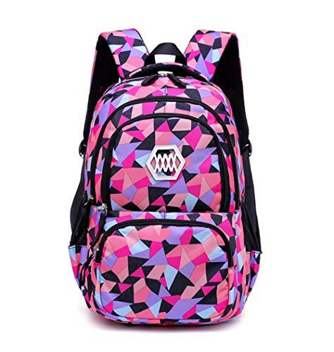 DNFC School Bag Backpack for Girls Boys Teenager Laptop Book Bag Fashion Rucksack Casual Daypack Large Backpack (Black)