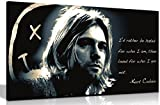 Kurt Cobain qoute Rather Be gehasst Leinwand Kunstdruck