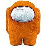 Fangteke Among Us Peluche Juguete de Peluche de Animales Entre Nosotros Muñeco de Peluche Decoración Del Coche Regalos para Los Fanáticos Del Juego 10 Cm Naranja