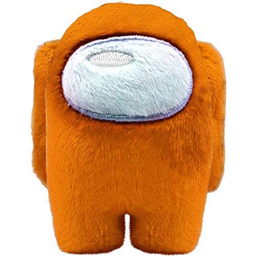 Fangteke Among Us Peluche Giocattoli Peluche Animali tra Noi Peluche Bambola Decorazione Auto Regali per Gli Appassionati di Giochi 10 Cm Arancione