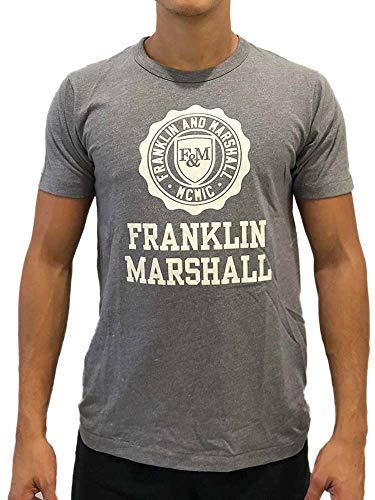 Franklin Marshall - Camiseta de manga corta para hombre, talla XS, M, L, XL, XXL A9/26 gris XS
