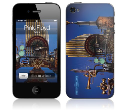 MusicSkins Pink Floyd Relics Skin For Apple iPhone 4/4S Cover Case Azul – Fundas para teléfonos móviles…