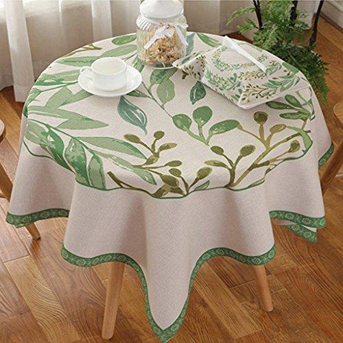 Petite nappe d'art frais en coton nappe ronde rectangulaire (Color : Ivy, Size : 140 * 140cm)