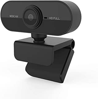 s61Ylu Webcam 1080P HDWeb Camera with Built-in HD Microphone 1920 x 1080p Web Cam Black