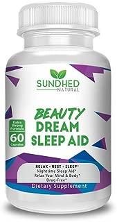 Natural Sleep Aid Beauty Dream Sleep Aid is a Non Habit Forming Sleep Formula with Melatonin and Valerian Root, Sleep Amazing and Wake up Refresh, Obtain A Natural Sleep, Made In USA