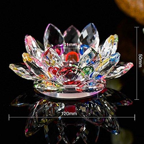 Value for Money Products Lotusblüte aus Kristallglas, Ständer für Kerzen und Teelichte, drehbar, in Geschenkbox, multi
