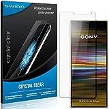 SWIDO Schutzfolie für Sony Xperia 10 Plus [2 Stück] Kristall-Klar, Hoher Festigkeitgrad, Schutz vor Öl, Staub & Kratzer/Glasfolie, Bildschirmschutz, Bildschirmschutzfolie, Panzerglas-Folie