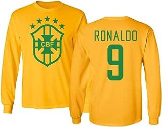 Tcamp Soccer Legends #9 Ronaldo Jersey Style Men's Long Sleeve T-Shirt