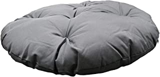 MH GLOBAL Gray 48 x 4 Inch Polyester Round Cushion Pillow Indoor/Outdoor Replacement Papasan Wicker Swing Chair