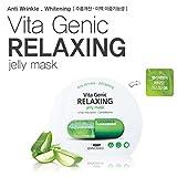 banobagi Vita Genic Jelly máscara hoja 10pcs para anti arrugas, Blanqueamiento (verde color para relajarse)
