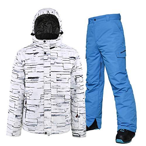 HSYD Heren Ski Jas met Broek, Snowboard & Ski Suit Skiën Gear, Ski Outfit Snowboard Snowsuit, Geschikt voor Snowboarden, Alpinisme