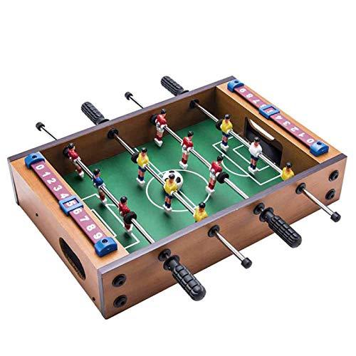 Mesa de futbolín portátil, mini juego de fútbol de madera, mesa de futbolín, juguete educativo para la familia de fiesta de niños